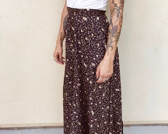 Forever 21 floral wrap around skirt