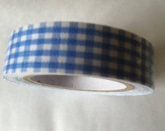 LIGHT blue GINGHAM tape