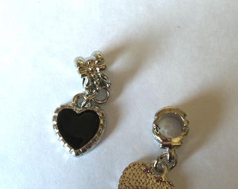 Black enamel heart