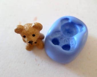 Mold for polymer clay Teddy bear 2cm