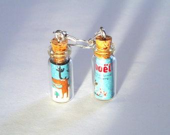 """""""Christmas in a bottle"""" vials earrings"""