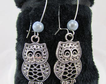 Gray magic beads and nugget earrings