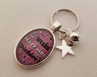 Keychain special godmother / aunt