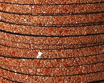 20 cm Strip glittery orange 5 mm
