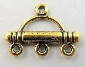Ornate connectors color 17 gold 14 * 20 * 2 mm