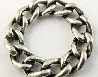 3 charms circle chain fixed 20 * 20 * 6mm