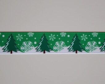 "Ribbon grosgrain ""Christmas tree"" 22mm"