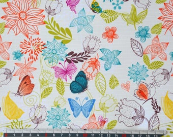 PVC coated fabric * waterproof * floral pattern
