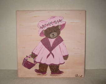 Free shipping! Flora bear painting