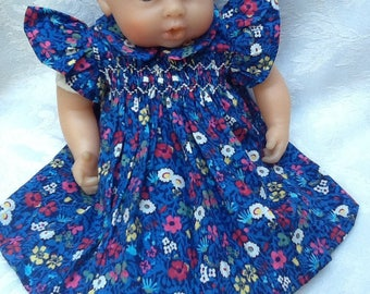 Clothing, dress has smocked Liberty Fitzgerald doll 30 cm