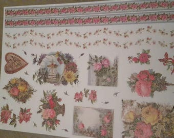 Flowers and borders scrapbooking