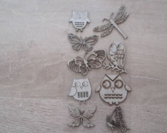 Mdf Butterfly Dragonfly OWL figurines