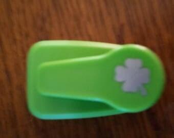 Hole punch scrapbooking 4 leaf clover
