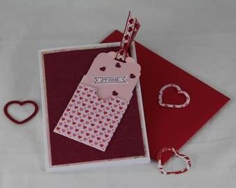 Valentine, Valentine card Valentines day, love, hearts,