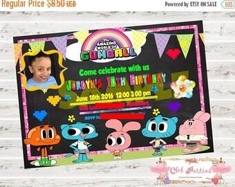 SALE 15% Gumball invite, gumball birthday, gumball digital