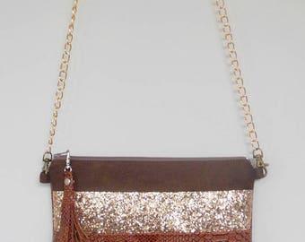 Bag caramel glitter Dragon Golden & chocolate