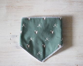 Bandana bib grey Fox