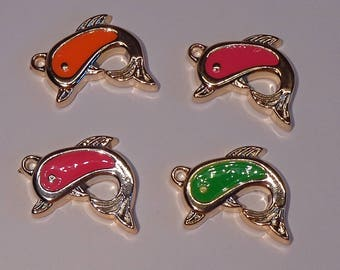 Dolphin pendants charms