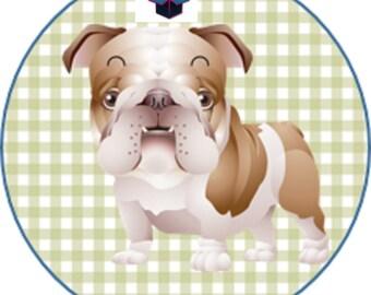 1 cabochon clear 25 mm dog theme