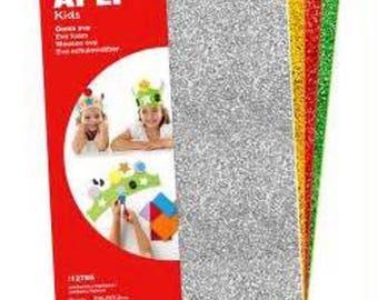4 sheets of foam glitter 210 x 297 x 2 mm