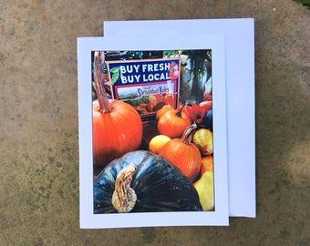 Local Produce Notecard - Blank Inside - Ships free!