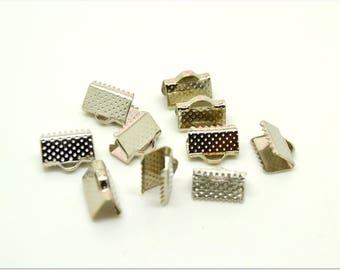Platinum 10 clamp ribbon ends
