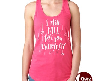 I still fall Tank Tops, inlove / girlfriend / wife