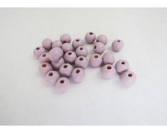 J, purple beads 8 mm X 20 Pack