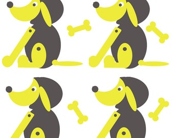 printed fabric dogs pattern in limited editions