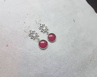 red lotus earring