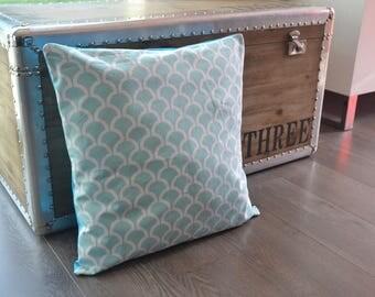 Cushion cover 40 x 40 billow aqua fabric