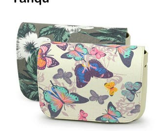 Ready Made Bag Flap For O Bag ,Fabric & PU Leather Purse Flap,Add on Flap,For Handmade Bag,Perfect For Solid Color Bag,For Plain Color Purse