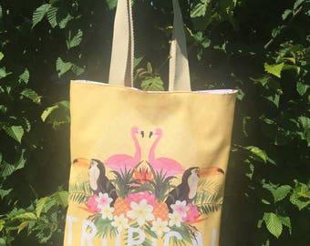 Shopping bag / Beach Tropical Flamingo