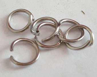 50 9 mm open stainless steel ring