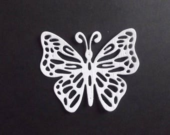 "Set of 10 white cuts ""butterflies"" for your scrapbooking creations."