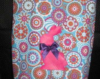 Bag rabbit girl pink/blue tones
