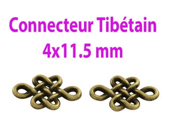 10 connectors style tracery 7x11.5 mm Tibetan