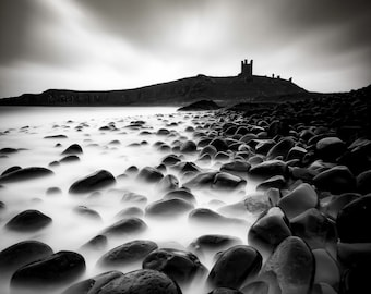 Dunstanburgh Castle Canvas print by Mark Henson photography