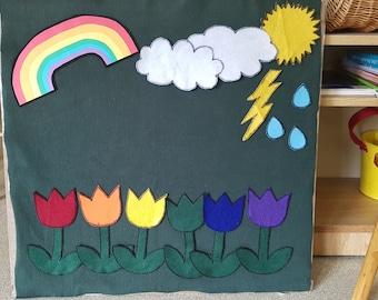 6 Little Flowers Felt Story (Spring/Weather/Rainbow)
