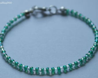 "Bracelet beads ""Green Light"""