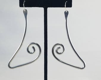 Aluminum statement large lightweight earrings