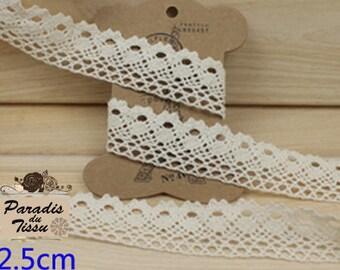 C2-06-Beige colour cotton lace Ribbon 5 meters