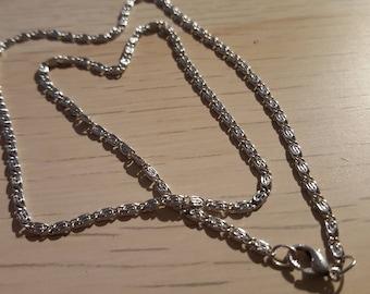1 necklace 45 cm silver chain