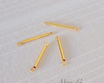 4 connectors / 18K gold plated Tube