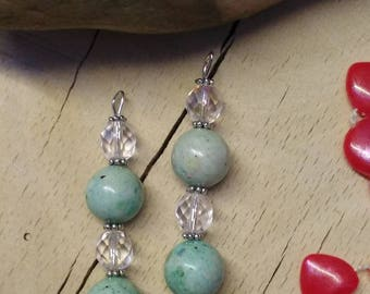 Set of fossil and Crystal beads charm
