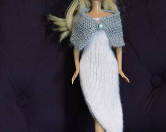 Evening dress for Barbie knitted 2 hands