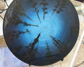 "Original artwork . Decorative clock - ""paradise"""