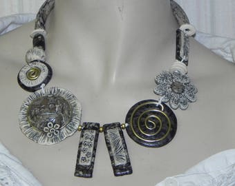 OOAK NECKLACE polymer entirely handmade