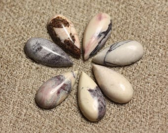 1pc - Cabochon stone - Jasper drop 15x7mm 4558550011541 porcelain