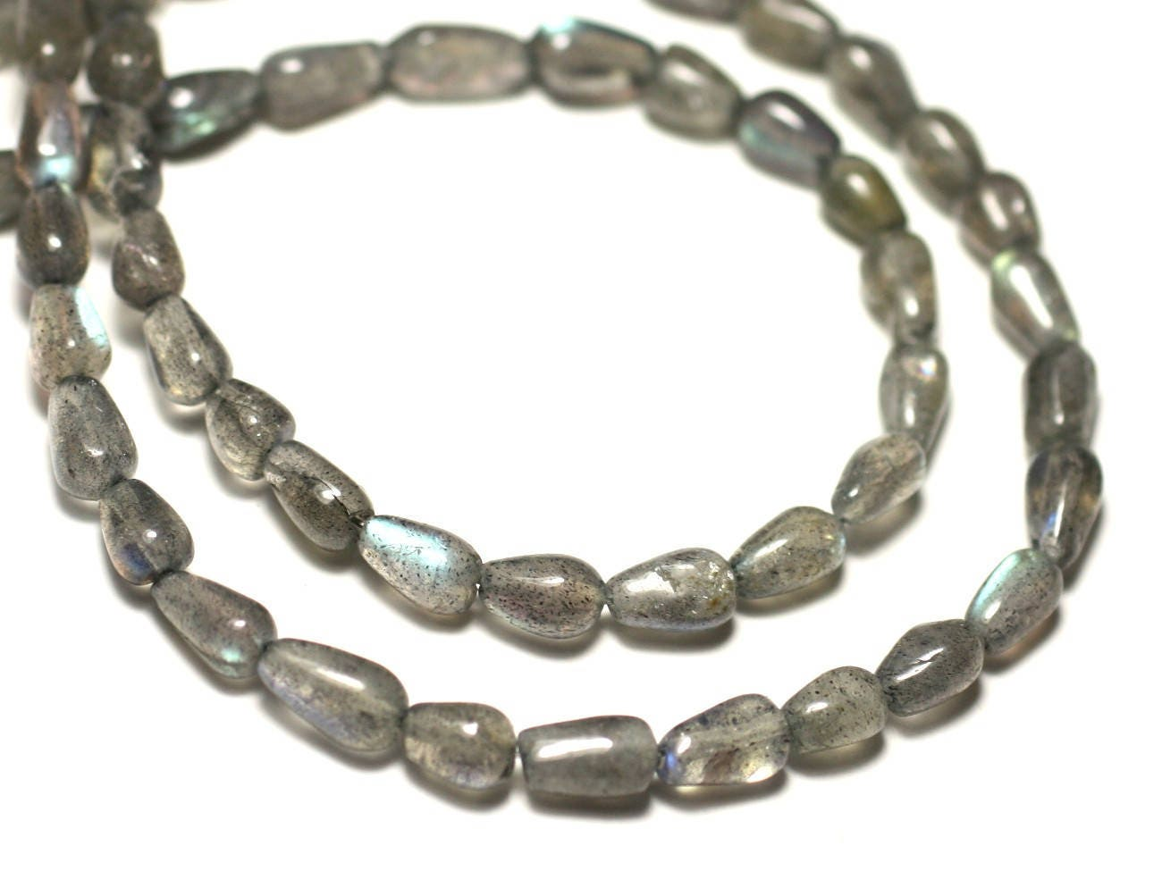 10pc perles de pierre labradorite gouttes 6 8mm. Black Bedroom Furniture Sets. Home Design Ideas